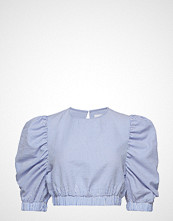 Ivyrevel Puff Sleeve Crop Top Bluse Langermet Blå IVYREVEL