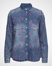 Zoe Karssen Embroidered Denim Shirt Langermet Skjorte Blå ZOE KARSSEN