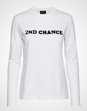 2nd Day 2nd Chance T-shirts & Tops Long-sleeved Hvit 2NDDAY