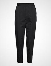 Filippa K Fiona Summer Trouser Bukser Med Rette Ben Svart FILIPPA K