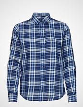 Gant O1. Fine Twill Shirt Langermet Skjorte Blå GANT