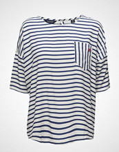 Scotch & Soda Woven Tee T-shirts & Tops Short-sleeved Blå SCOTCH & SODA