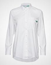 Esprit Casual Blouses Woven Langermet Skjorte Hvit ESPRIT CASUAL
