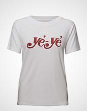Just Female Ye Ye Tee T-shirts & Tops Short-sleeved Hvit JUST FEMALE
