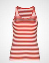 GAP Sl Flat Bk Rib Tk Str T-shirts & Tops Sleeveless Rød GAP
