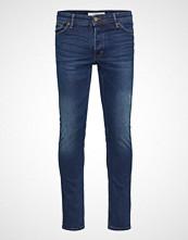 Mango Man Slim-Fit Faded Dark Wash Tim Jeans Slim Jeans Blå MANGO MAN