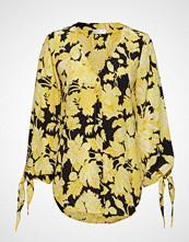 Stine Goya Kimberly, 517 Hortensia Silk Bluse Langermet Gul STINE GOYA