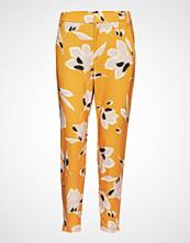 InWear Nica No Rib Printed Pant Bukser Med Rette Ben Gul INWEAR