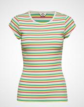 Mads Nørgaard 2x2 Soft Stripe Trappy T-shirts & Tops Short-sleeved Multi/mønstret MADS NØRGAARD