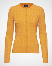 Gant Stretch Cotton Cable Crew Cardigan Strikkegenser Cardigan Oransje GANT
