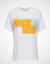 POSTYR Poslogo Mania Tee T-shirts & Tops Short-sleeved Hvit POSTYR