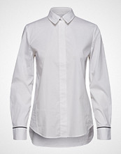 Marc O'Polo Blouse, Long Sleeved, Light Stretch Langermet Skjorte Hvit MARC O'POLO
