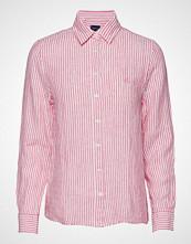 Gant The Linen Chambray Stripe Shirt Langermet Skjorte Rosa GANT