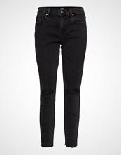 GAP Tr Skinny Ankle Washed Blk Slash Rh Skinny Jeans Svart GAP
