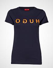 HUGO Denna_4 T-shirts & Tops Short-sleeved Blå HUGO