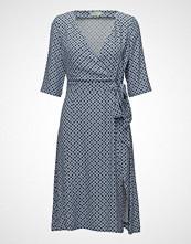 Morris Lady AiméE Print Dress Kort Kjole Blå MORRIS LADY