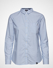 Superdry Oxford Stripe Shirt Langermet Skjorte Blå SUPERDRY
