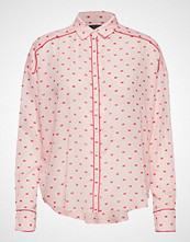 Scotch & Soda Boxy Fit Allover Printed Viscose Mix Shirt Langermet Skjorte Rosa SCOTCH & SODA