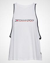 Tommy Sport Open Back Tank Top T-shirts & Tops Sleeveless Hvit TOMMY SPORT
