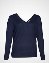 Violeta by Mango V-Neckline Sweater Strikket Genser Blå VIOLETA BY MANGO