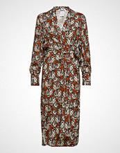 Hope Split Puff Dress Knelang Kjole Multi/mønstret HOPE