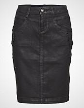 Cream Kimmie Coated Skirt - At Knee Kort Skjørt Svart CREAM
