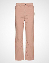 Gina Tricot Gabby Corduroy Trousers Bukser Med Rette Ben Rosa GINA TRICOT