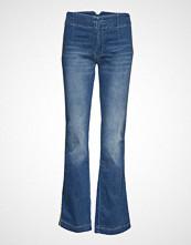 Please Jeans Longcut Buckle Denim Jeans Sleng Blå PLEASE JEANS