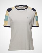 FRAME Blocked Tee T-shirts & Tops Short-sleeved Hvit FRAME