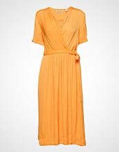 Scotch & Soda Midi Length Wrapover Dress Knelang Kjole Oransje SCOTCH & SODA