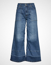 Please Jeans Wide Leg Denim Jeans Sleng Blå PLEASE JEANS