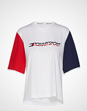 Tommy Sport Tee Colorblock Logo, T-shirts & Tops Short-sleeved Hvit TOMMY SPORT