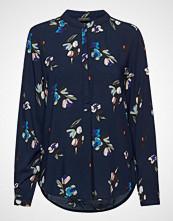 FREE/QUENT Adney-Bl-Ls-Flow Bluse Langermet Blå FREE/QUENT