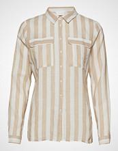 Vila Vidamita L/S Shirt Pb/Ki Langermet Skjorte Creme VILA