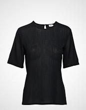 Filippa K Mesh Tee T-shirts & Tops Short-sleeved Svart FILIPPA K