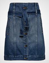 Armani Exchange Woman Denim Skirt Knelangt Skjørt Blå Armani Exchange