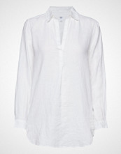 GAP Popover Tunic Linen Sld Langermet Skjorte Hvit GAP