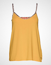 Coster Copenhagen Strap Top W. Leopard Tape T-shirts & Tops Sleeveless Gul COSTER COPENHAGEN