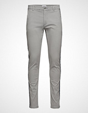 Lindbergh Club Pants With Tape Slim Jeans Grå LINDBERGH