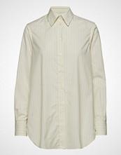Filippa K Indra Cotton Silk Shirt Langermet Skjorte Creme FILIPPA K