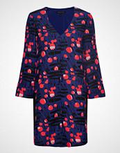 Armani Exchange Woman Woven Dress Knelang Kjole Blå ARMANI EXCHANGE