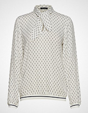 Marc O'Polo Blouse, Tie Neck, Flat Knit Tape, L Bluse Langermet Hvit MARC O'POLO