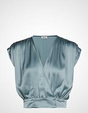 Valerie Obey Top Bluse Kortermet Blå VALERIE