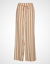 Mango Flowy Printed Trousers Vide Bukser Beige MANGO