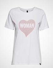 Pulz Jeans Pzwoman S/S T-Shirt T-shirts & Tops Short-sleeved Hvit PULZ JEANS