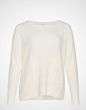 Violeta by Mango Ribbed Knit Sweater Strikket Genser Creme VIOLETA BY MANGO