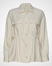 Mango Adjustable Waist Overshirt Langermet Skjorte Creme MANGO