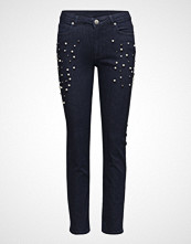 2nd Day 2nd Sally Cropped Pearly Skinny Jeans Blå 2NDDAY