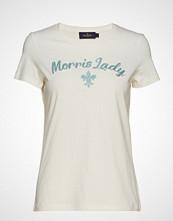 Morris Lady Lady Fleur Tee T-shirts & Tops Short-sleeved Creme MORRIS LADY