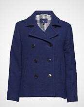 Gant O1. Wool Pea Coat Ullfrakk Frakk Blå GANT